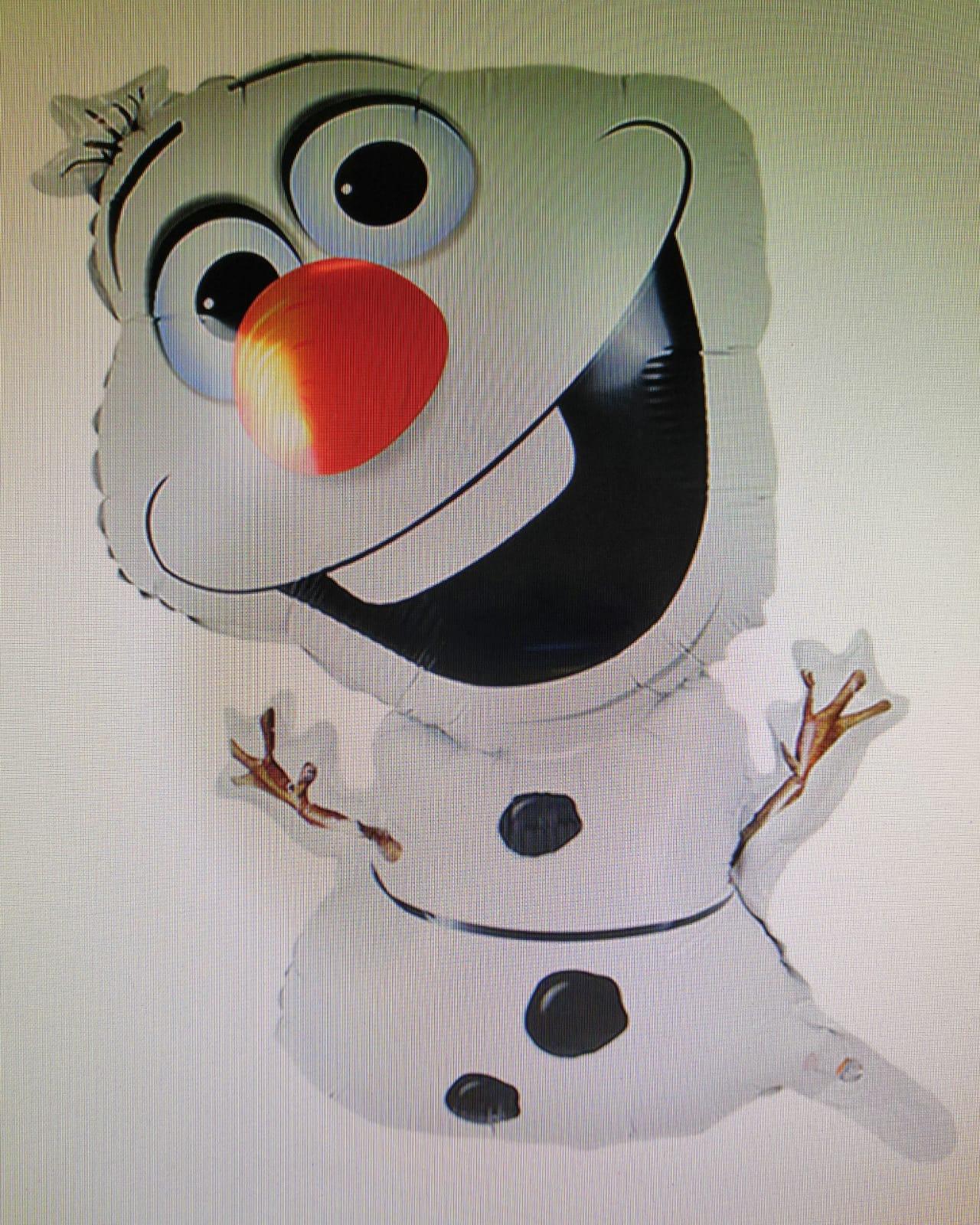 olaf der schneemann 70 cm  dj falo ballon shop