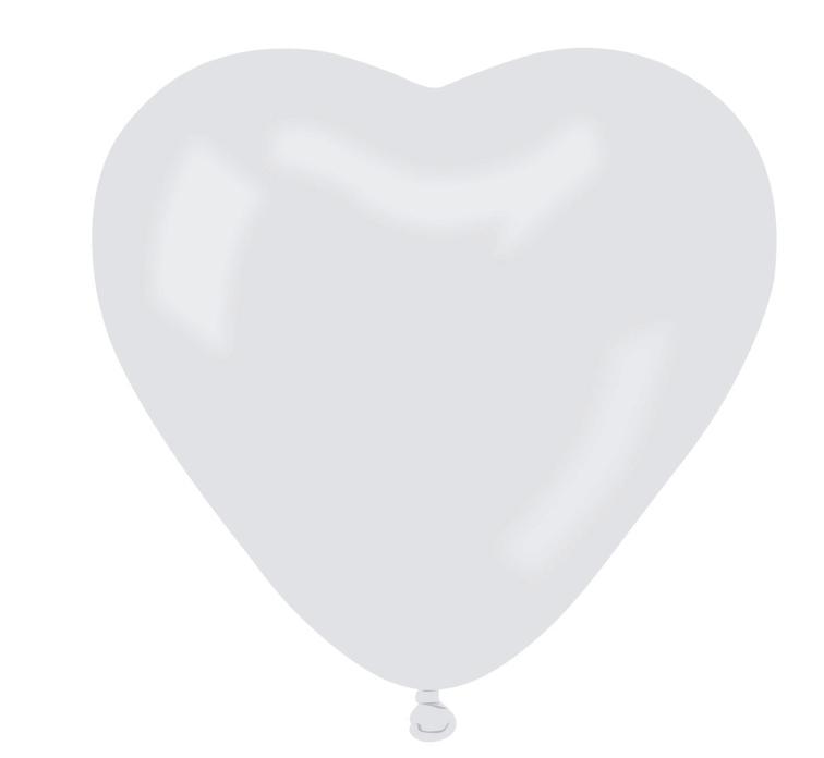 Helium Luftballon Latex Herz Weiß Ballons XL 44 cm