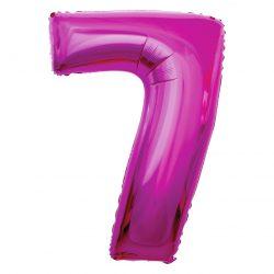 Folienballon Nummer 7 Pink 92 cm