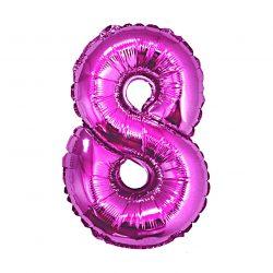 Folienballon Nummer 8 Pink 92 cm