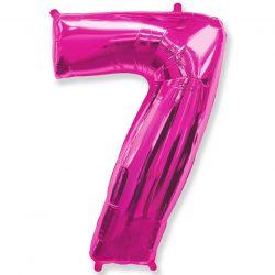 Folienballon Nummer 7 Pink 85 cm