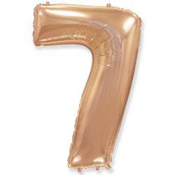Folienballon Nummer 7 Rosa Gold 85 cm