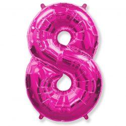 Folienballon Nummer 8 Pink 85 cm