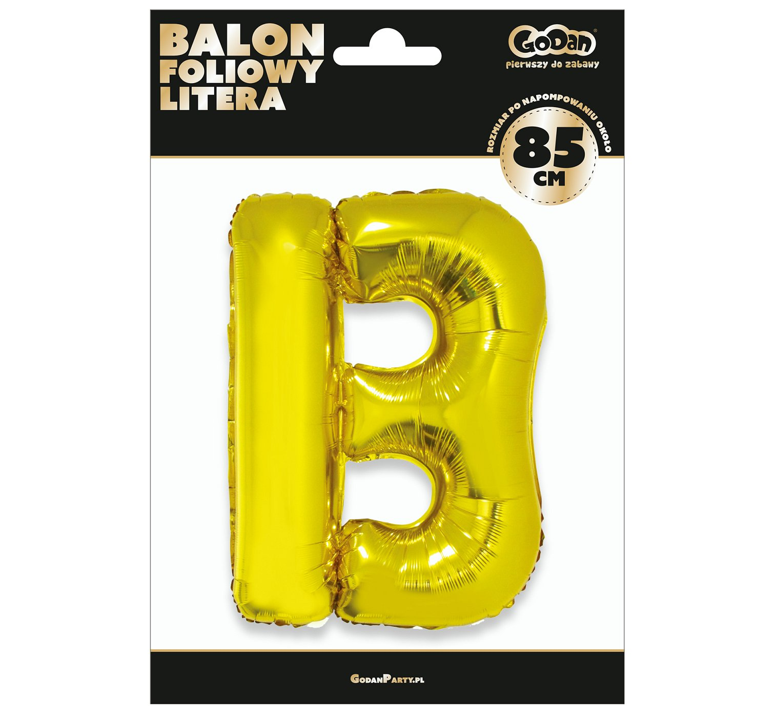 Folienballon Buchstabe B in Gold 85 cm