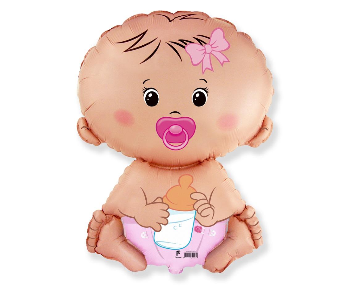 Folienballon Baby Mädchen